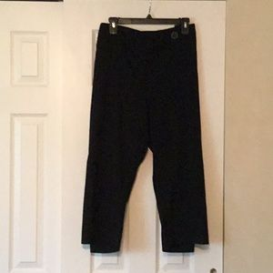 Black Ankle Pants by Jaclyn Smith - Like New 22W